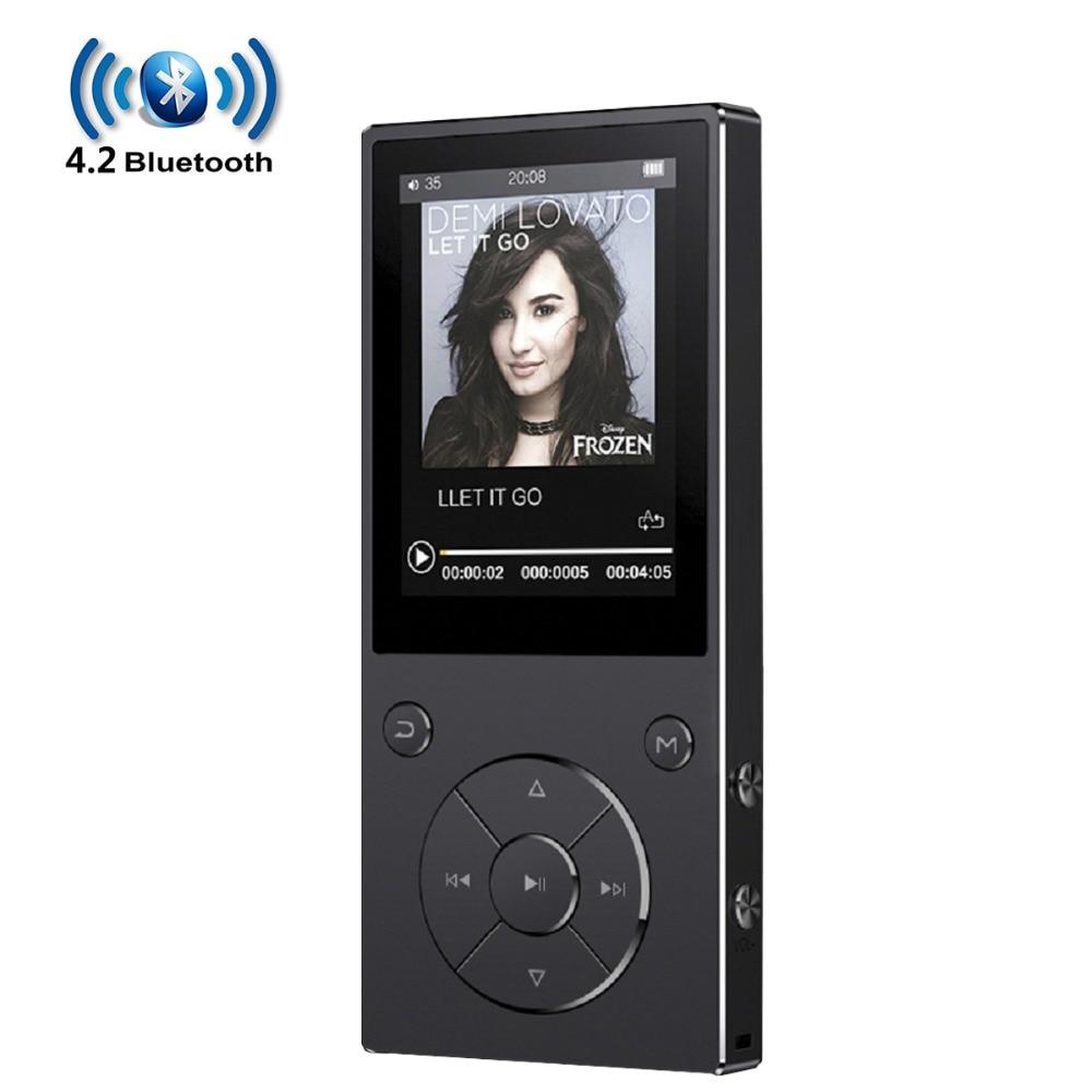 Bluetooth4.2 MP3-плеер с динамиком 2.4In экран металлический hifi музыкальный плеер с fm-радио электронная книга hifi Walkman Поддержка usb mini SD