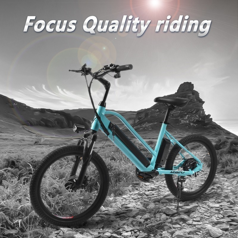 MYATU Electric Bike 36V7 5A Lithium Battery 20 inch Aluminum Electric Bicycle 250W Powerful Mountain e bike Snow beach ebike in Electric Bicycle from Sports Entertainment