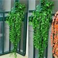 1 Pc 8.2 Pés Natural Folhas de Hera Artificial de Plástico Plantas Vine Falso Folhagem Flores Partido Home Decoração Encantadora