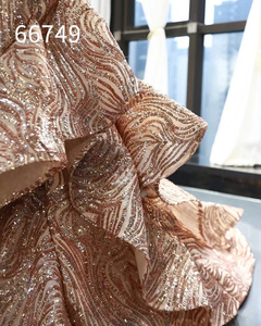 Image 5 - Rsm66749 brilhante sereia vestido de casamento convidado fora do ombro querida rendas até voltar trompete vestido de noite com trem abendkleid