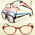 wholesale 8327 pupil TR90 rectro optical full rim fexilable hinge solid color kid optical eyeglass frames  free shipping