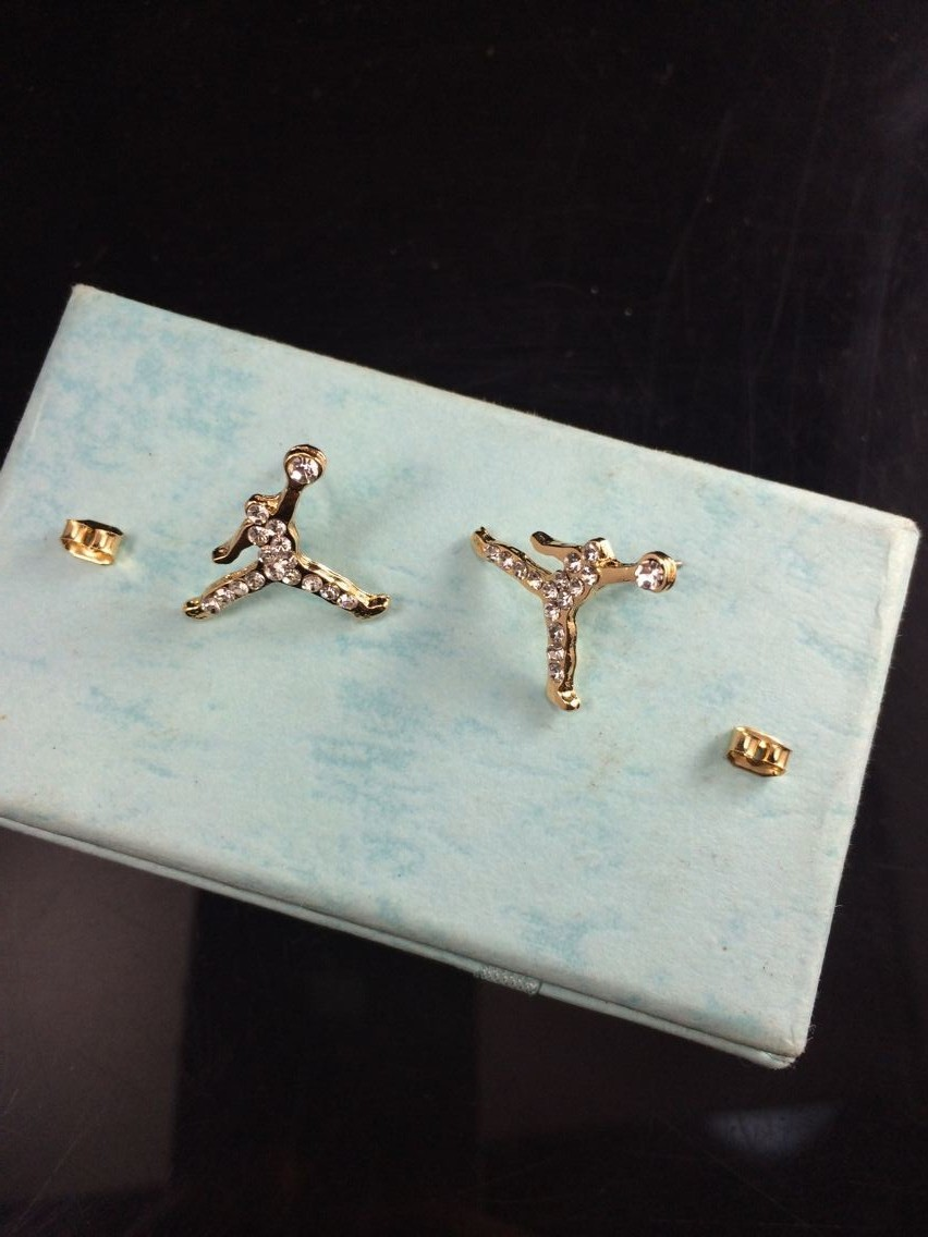 Lot Wholesale Fashion Jewelry Crystal Charm Gold Color Michael  Earrings For Women,
