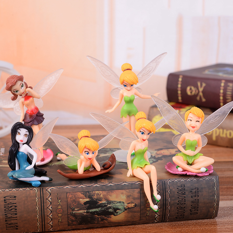 In Independent Kids Toys Cake Decoration Doll Wonderful Flower Fairy Wings Girl Elf Princess Hand Decoration Random 2pcs/bag Fragrant Flavor