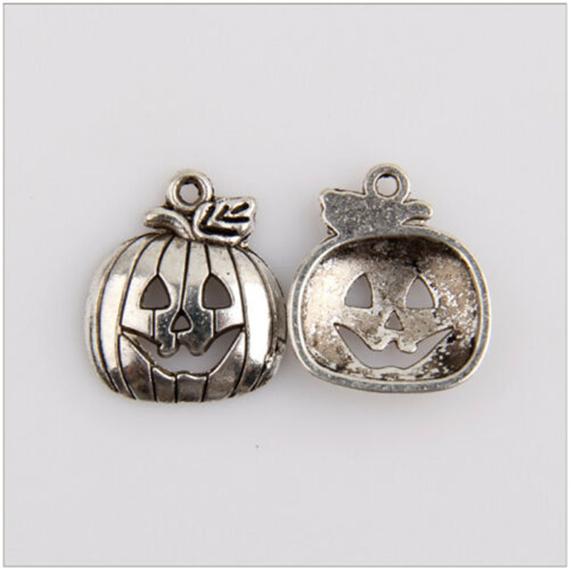 40pcs metal charm Christmas supplies pumpkin lamp Tibetan silver jewelry pendant jewelry production found in Charms from Jewelry Accessories