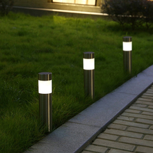 6PCS Solar Stainless Steel Outdoor Lights