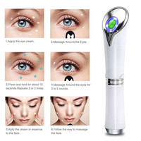 Heated Eye Massager High Frequency Vibrating Anti aging Galvanic Anions Wrinkle Relieves Dark Circles and Puffiness G529