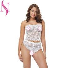 Exotic Apparel Women's Sexy Lingerie Hot Erotic Lingerie Transparent Lace Chiffon Sexy Underwear Sex Clothes Set Bra Panties цены