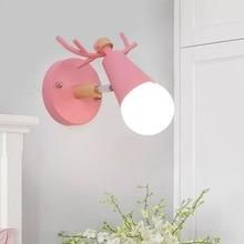 HAWBOIRRY modern minimalist deer styling ladder lamp living room bedroom bed bed head indoor lighting home wall lamp