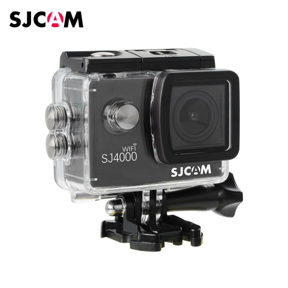 SJCAM SJ4000 WIFI Version Diving 30M Waterproof Sport Camera Full HD 1080P 12MP 2.0 inch LCD Action Camera with Wide Angle Lens sjcam m10 1 5 lcd 2 3 cmos 12mp 1080p wide angle sports camera w tf mini hdmi red black