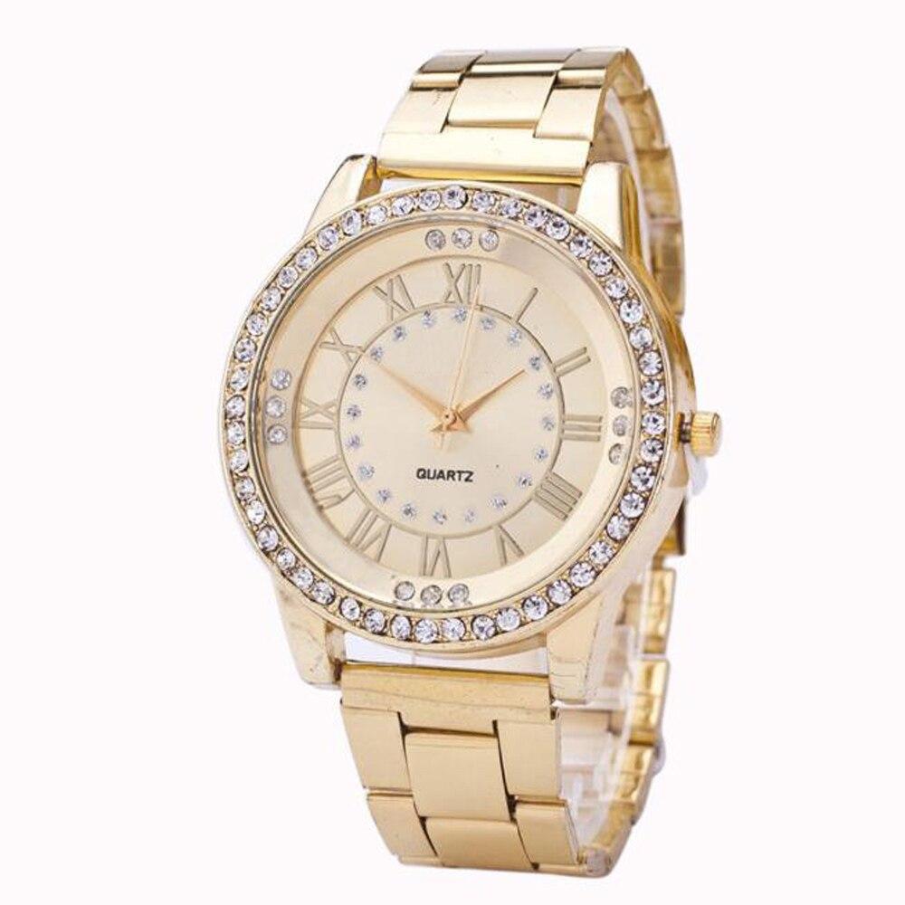 95dbf714856 Superior Meninas das Mulheres Relógio de Cristal Rhinestone do Aço  Inoxidável Quartzo Relógio de Pulso Para Mulheres reloj mujer De Outubro de  14