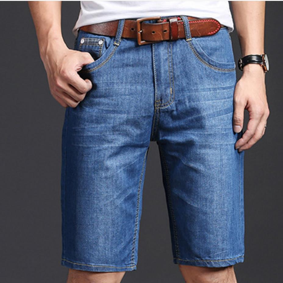 plus size 28-40!2018 Summer Fashion New Mens Casual Denim Shorts Men straight slim jeans shorts