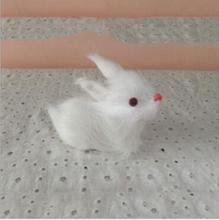 WYZHY New Year Creative Gifts Simulation Fur Animals Rabbit Friends Children  5CM X8CM