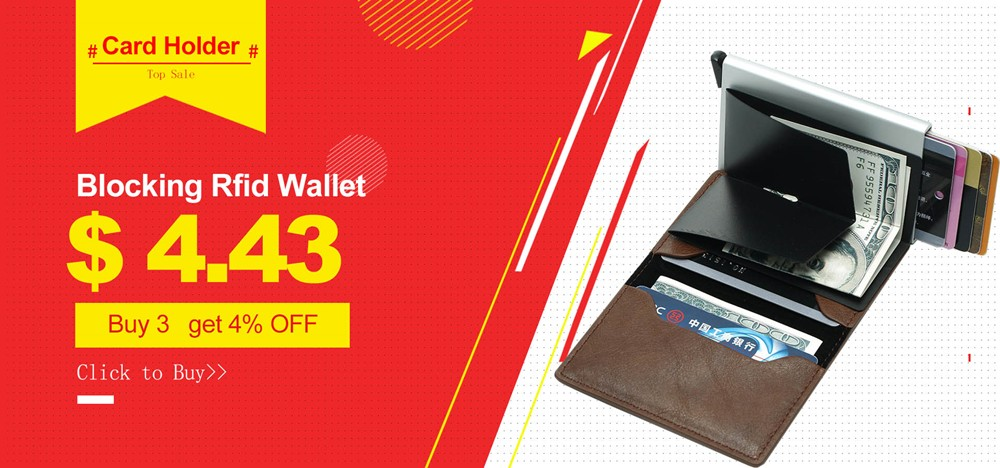 Bycobecy 2019 Fashion Business Card Holder Unisex Leather