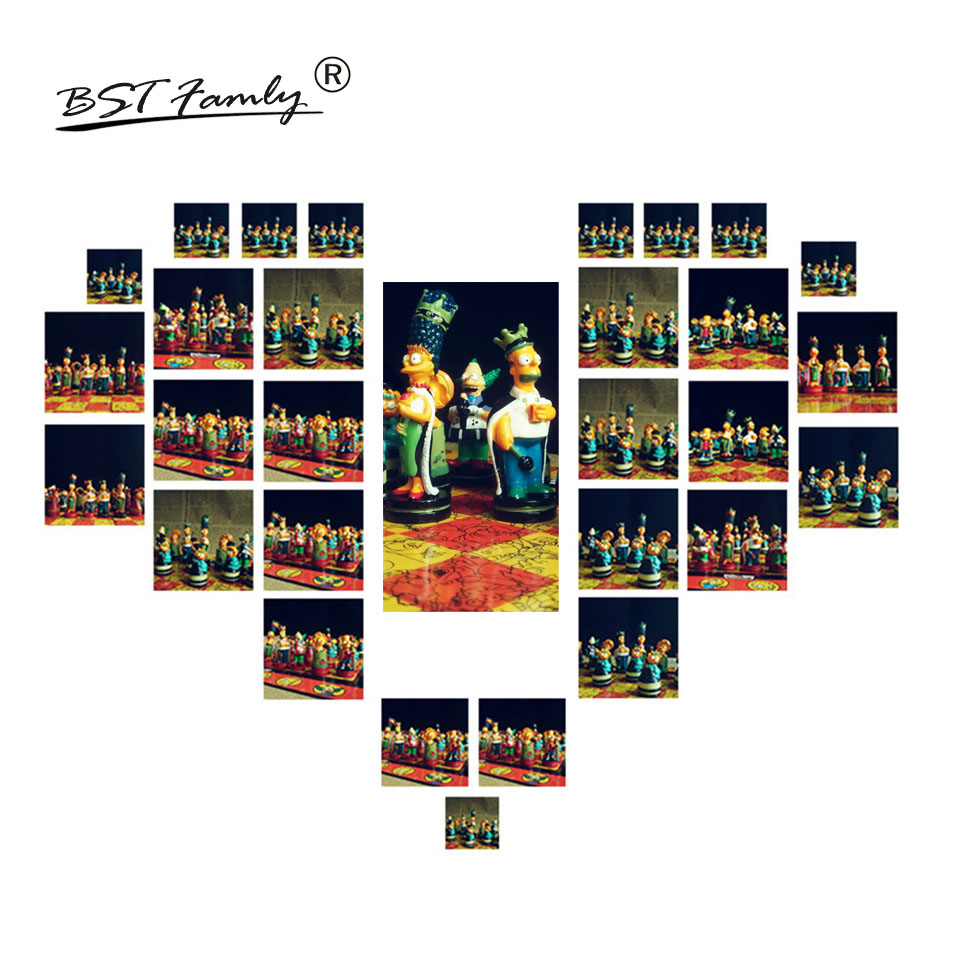 BSTFAMLY Chessman Simpson Chess Set Game of International Chess Folding Chessboard PVC Plastic Chess Pieces Souptoys Toys I22 in Chess Sets from Sports Entertainment