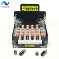 2 unid Envío Libre pequeña Batería Secret Stash Diversion Segura Pill Oculta Caja de Monedas de Dinero caja de almacenamiento Contenedor Caso