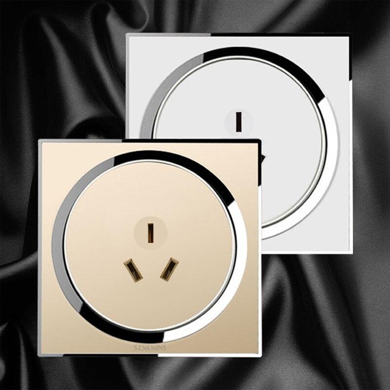 3 Pin AU standard 16A steckdose, 86*86 steckdose, hohe qualität Kristall acryl panel und Freies verschiffen