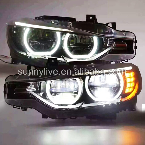 For BMW F30 F35 318 320 325 328 330 335 LED Angel Eyes Headlight assembly SY bmw 318 в москве