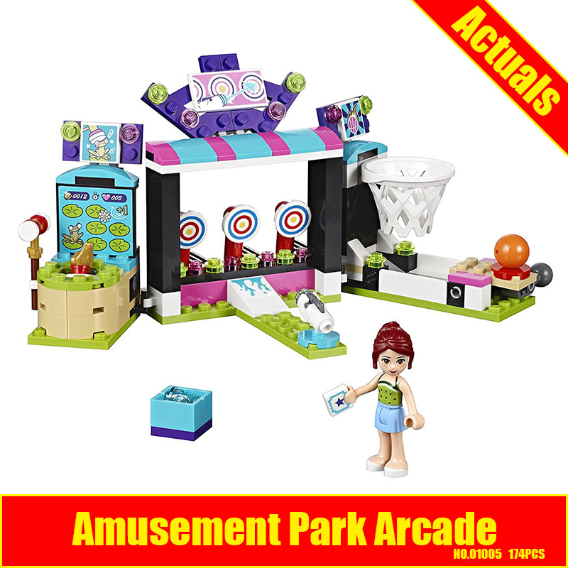 LEPIN 01005 friends 174pcs amusement park games Model Building blocks Bricks Compatible Toy Christmas Gift 41127