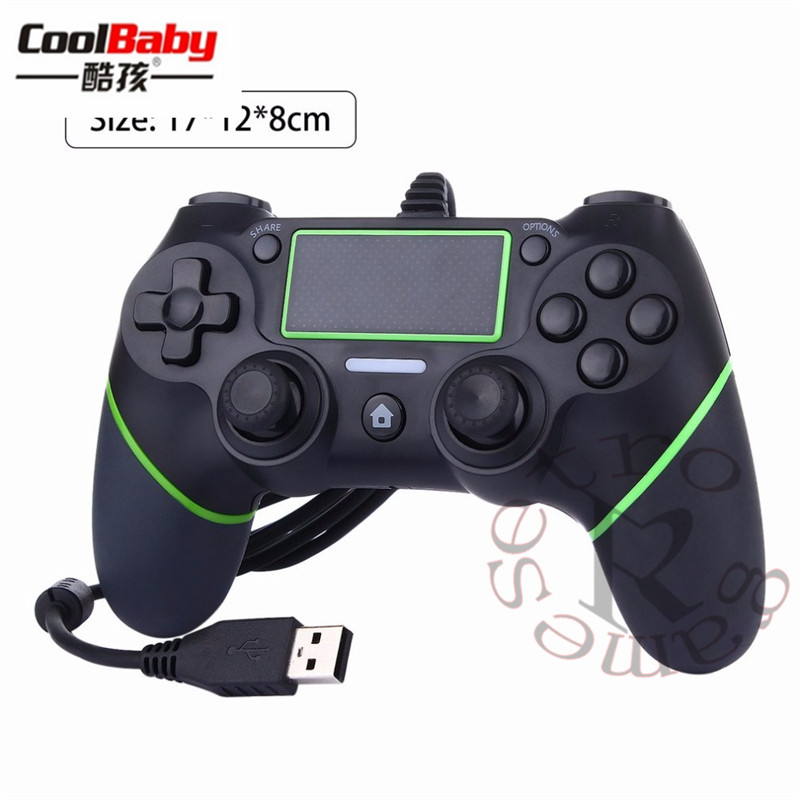 DHL 50pcs/lot USB Wired Gamepad Controller For PS4 Game Controller For Sony Playstation 4 Joystick Gamepads