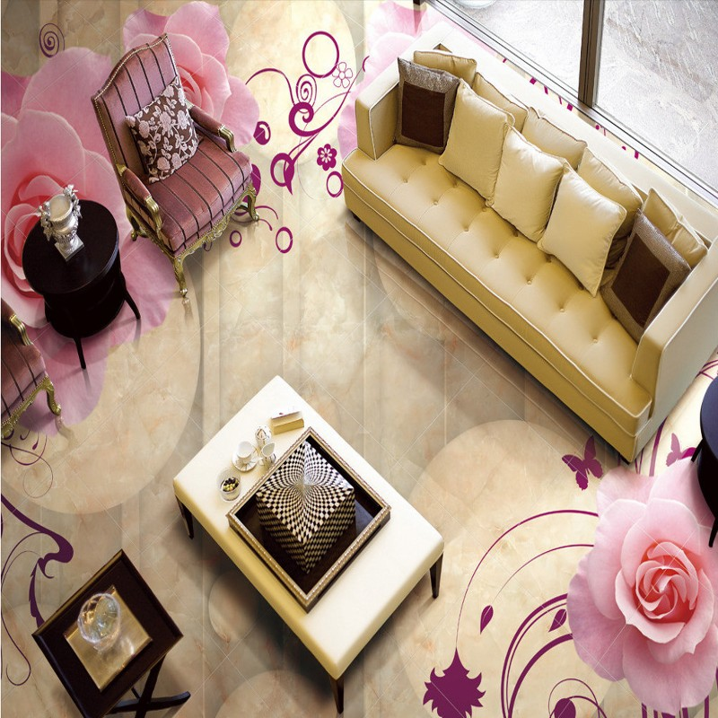 Free shipping custom 3D Stereo Rose Marble Background Wall thickened self-adhesive living room bedroom floor mural wallpaper free shipping swan lake blue 3d stereo background wall bedroom living room mural 3d high quality office wallpaper