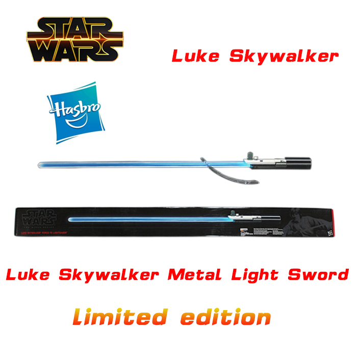 Star Wars The Force Luke Skywalker lightsaber laser sword metal handle metal materials Collectors Edition