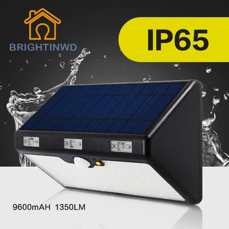 LED Garden Solar Light 60LED 9600mAH High Brightness 13500LM Emergency Outdoor Lighting Led Street Ip65 Lamp