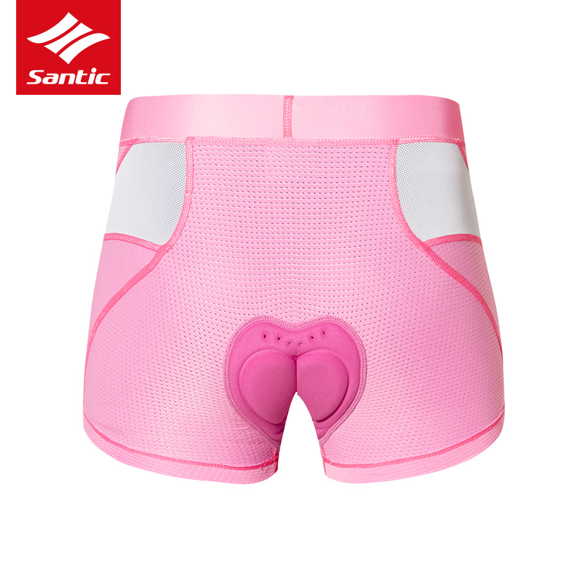 Santic Women Bicycle Cycling Underwear Shorts Pro Shockproof 4D Pad MTB Road Bike Underwear Breathable Riding Sports Sexy Shorts