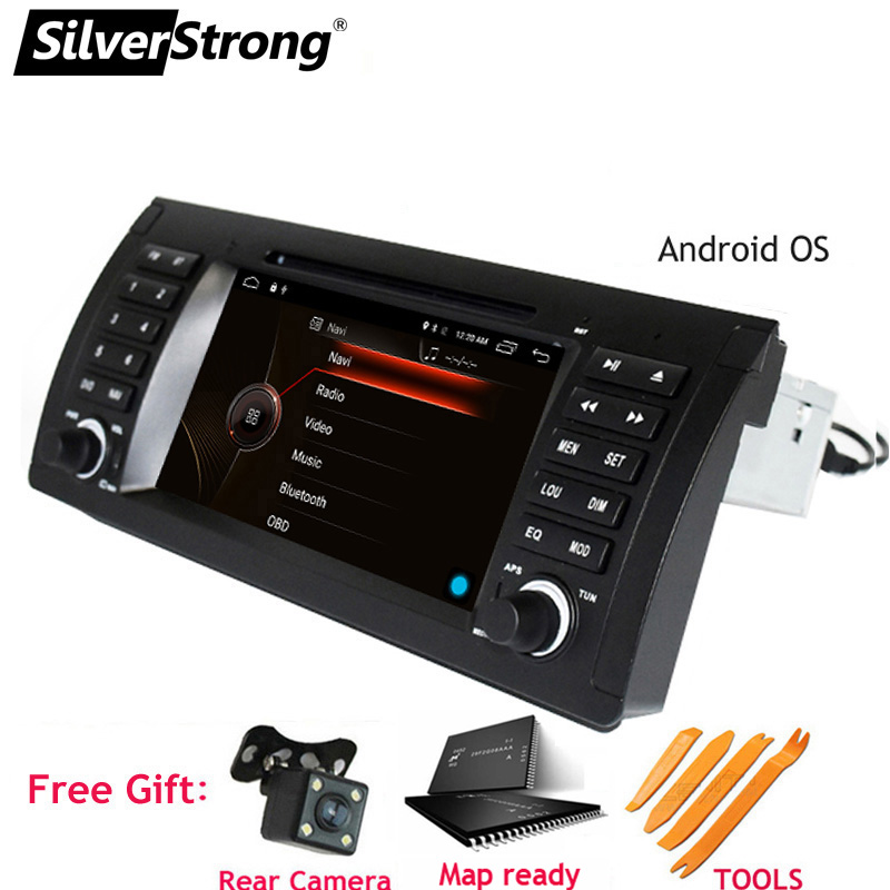 SilverStrong Android9 0 QuadCore 1Din 7inch Car DVD for BMW E39 E53 X5 Car dvd gps