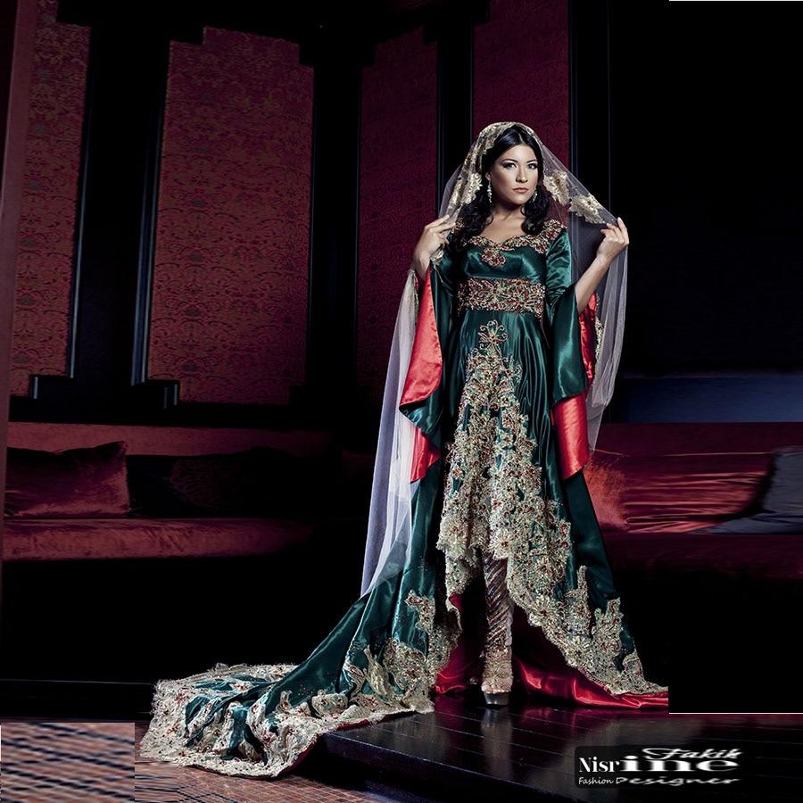 2017 Dubai Kaftan Appliqued Long Evening Gowns Caftan Abaya In Dubai Long...