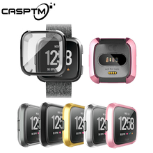 Ultra-thin Soft Plating TPU Case Cover For Fitbit Versa Full Protection Silicone Cases wearable devices Smart watch accessories
