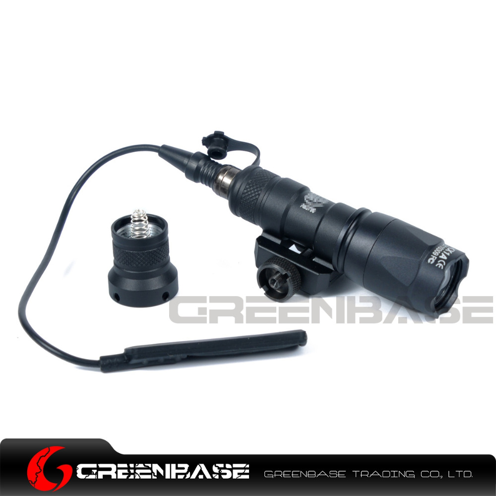 Greenbase M300 M300C Mini Scout Light Constant & Momentary Dual Output Weapon Light 20mm Rail With Switch Tail Black/Dark Earth