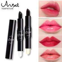 Hot Selling 2 End Lipstick Pencil Long Lasting White Black Day Night Color Changed Magic Makeup For Face Lips Beauty Lip Stick