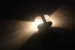 Image 5 - 12 V 해양 보트 네비게이션 라이트 모든 라운드 360 학위 따뜻한 화이트 앵커 램프 접이식 마스트 헤드 라이트