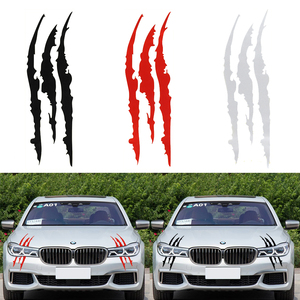 40cm*12cm Car Reflective Monster Sticker Black/Red Scratch Stripe Claw Marks Car Auto Headlight Vinyl Decal Car Styling(China)