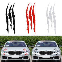 40 cm * 12 cm Auto Reflecterende Monster Sticker Zwart/Wit/Rood Kras Streep Klauw Merken Auto Auto koplamp Vinyl Decal Car Styling(China)