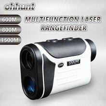 Ohhunt Multifunktions Laser-entfernungsmesser 8X600 Mt 800 Mt 1500 Mt Jagd Golf Monokulare Entfernungsmesser Outdoor mess