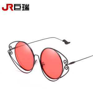 00bccb44c6 HIAARZER frame circle metal mirror sunglasses female legs