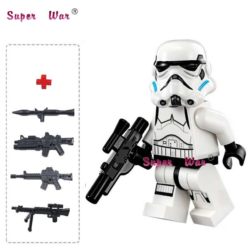 1PCS star wars superhero Stormtrooper Storm trooper building blocks action sets model bricks toys for children