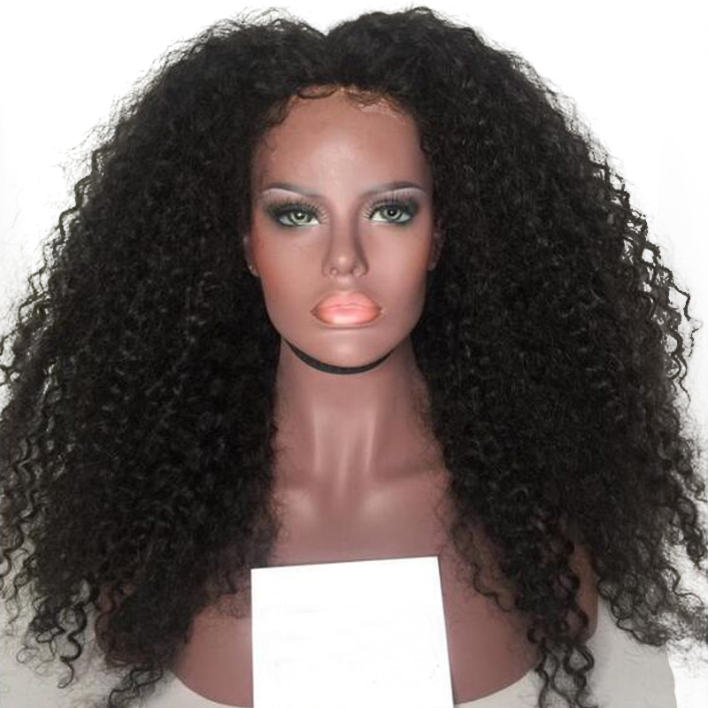 DLME 26 Inches Kinky Curly Wig Heat Resistant Wig Glueless Synthetic Lace Front Wig With Baby Hair Black Wigs For Black Women