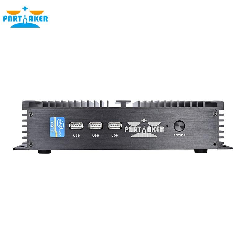 Industrial Mini PC Intel Celeron 1037U 1* LAN 2*RS232 Rugged Computer Partaker Free Shipping