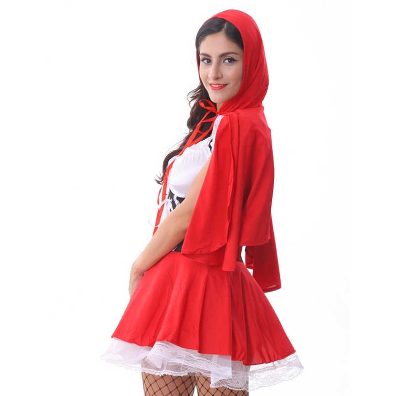 Hot red Hoodwinked full open cosplay female costomes sexy women lingerie