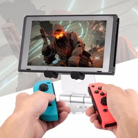 Adjustable Anti Skid Black Metal Stand Playstand For Nintendo Switch Video Game Console Gaming Controller Cell
