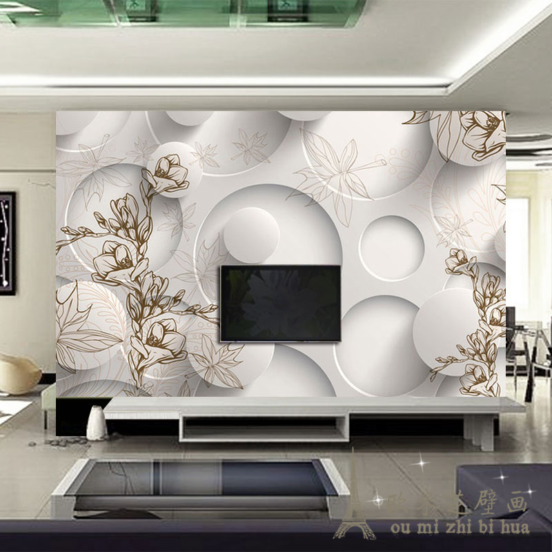 Large Stylish Simplicity Maple Leaf Magnolia Living Room Sofa Tv Backdrop Wallpaper Bedroom Wallpaper Murals Stereoscopic 3d In Wallpapers From Home