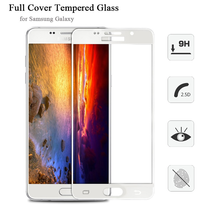 full cover for samsung galaxy s7 s6 a3 a5 a7 j3 j5 j7 pro 2016 2018 tempered glass for sumsung a5 2017 screen Protector film