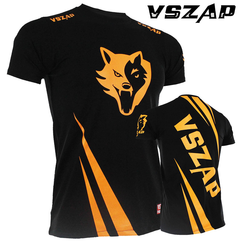 VSZAP Fight Short Sleeve T-shirt Fight MMA Shirt Combat Comprehensive  Muay Thai Jujitsu  Jerseys