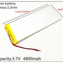 3263156 Аккумулятор для планшета 3,7 в, 4800 мАч, 3263156 полимерный литий-ионный/литий-ионный аккумулятор для планшетных ПК