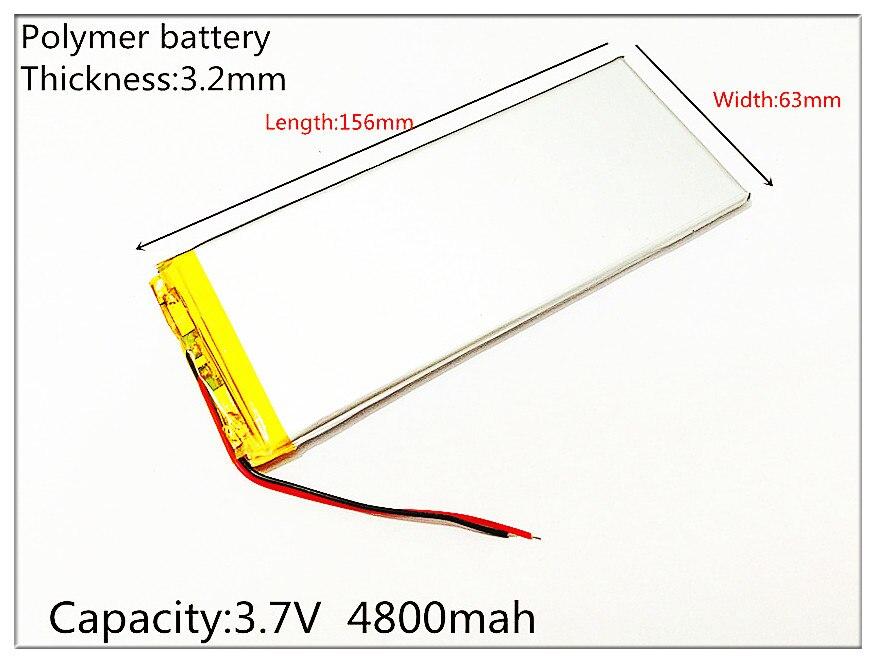 3263156 The font b tablet b font battery 3 7V 4800mAH 3263156 Polymer lithium ion Li