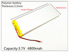 3263156 The tablet battery 3 7V 4800mAH 3263156 Polymer lithium ion Li ion battery for tablet