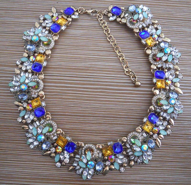 Mode Kristal Berlian Imitasi Pernikahan Choker Kalung Wanita - Perhiasan fashion - Foto 6