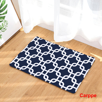 Anti Slip Floor Carpet Mat Geometric Color Pattern Print Doormat For Bathroom Kitchen Entrance Rugs Home